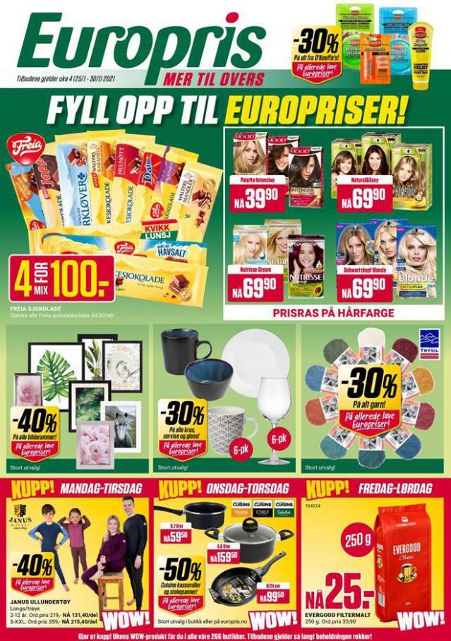 EUROPRIS Kundeavis . Europris (2021-01-30-2021-01-30)