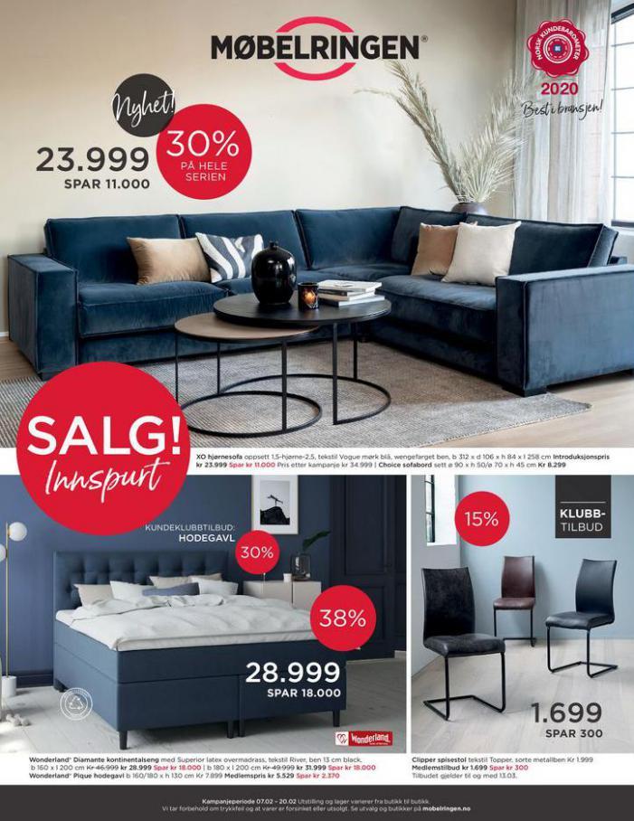 Ny kundeavis ute med mange gode tilbud! . Møbelringen (2021-02-20-2021-02-20)