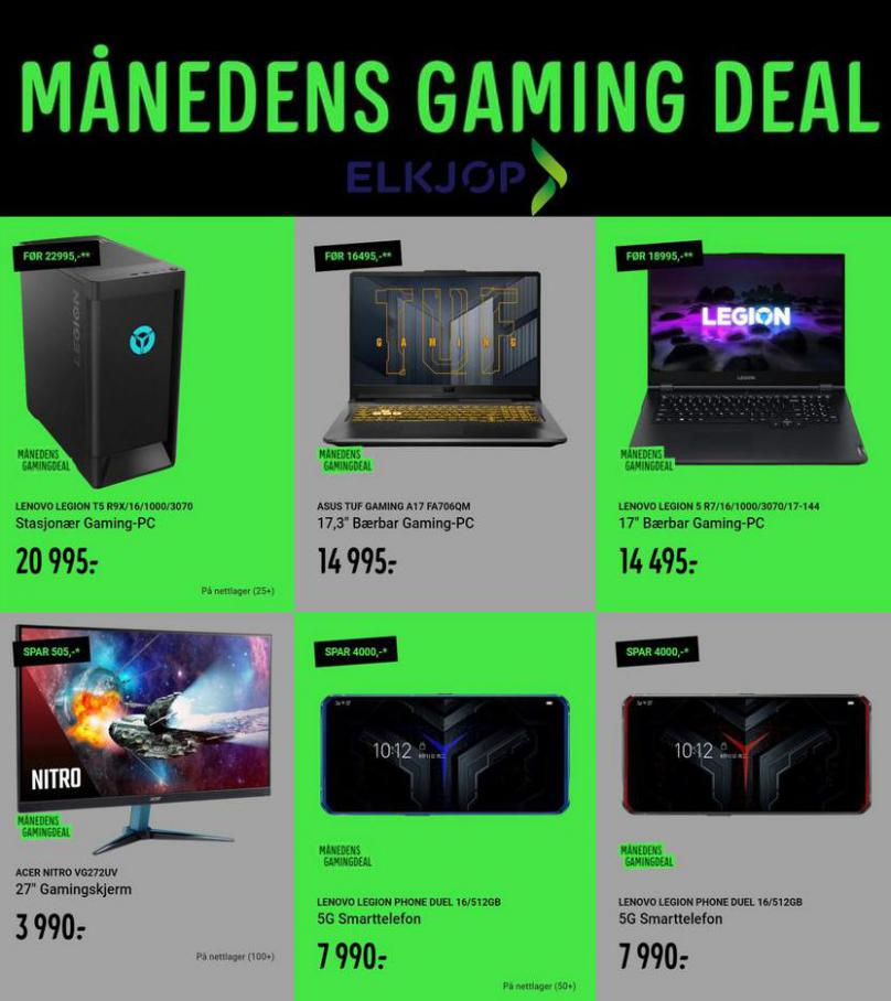 Manedens Gaming Deal . Elkjøp (2021-04-25-2021-04-25)