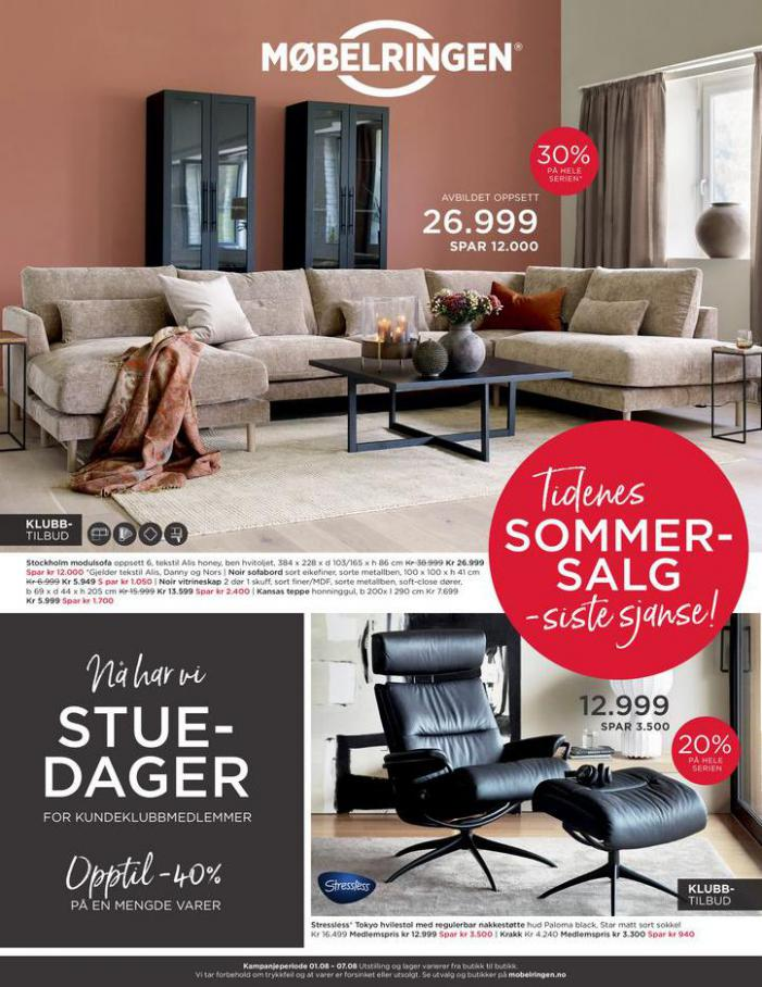 Ny kundeavis ute med mange gode tilbud!. Møbelringen (2021-08-07-2021-08-07)