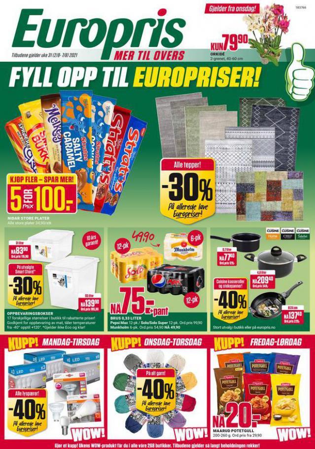 Ukens kundeavis!. Europris (2021-08-07-2021-08-07)